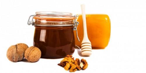 honey-jars isolated on the white background